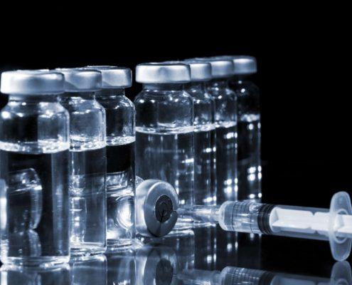 Glass Medicine Vials and Syringe